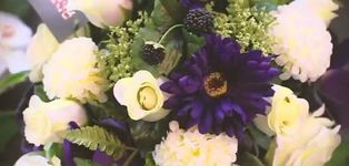 Gekleurd bloemstuk